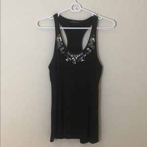 Express beaded racer back tank